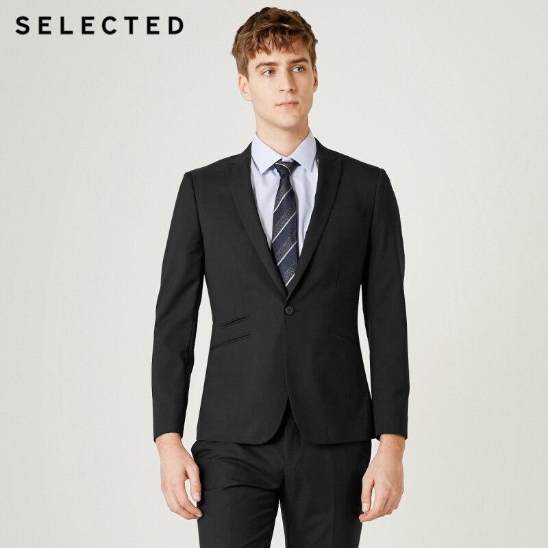 SELECTED Men's Regular Slim-Fit Blazer Multi-pocket Business Jacket Clothes T|41925X502