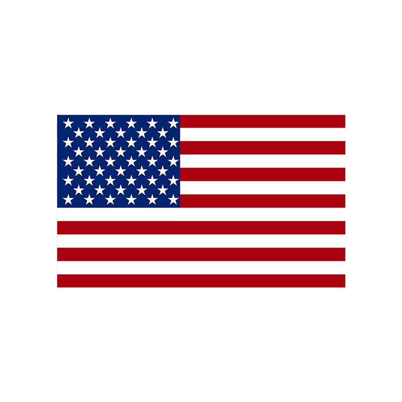 Rectangular United States American Flag Decal Stickers Car Vinyl Window Bumper Decal Sticker Red New