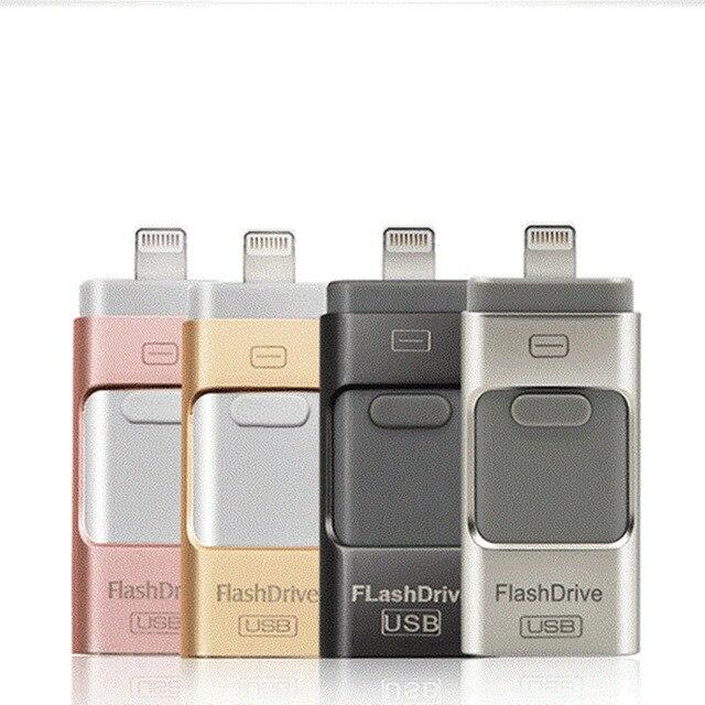 OTG Usb Flash Drive 8GB 16GB 32GB 64GB 128GB Pen drive storage memory stick For iphone X 8 7 Plus 6 6s Plus 5S ipad Pendrive