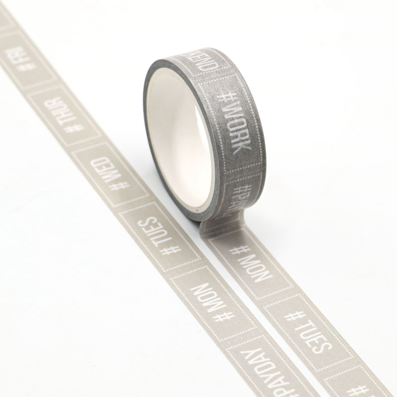 NEW WEEK Washi Tape Planner Scrapbooking Cute Cinta Adhesiva Decorativa Masking Tape Japanese Stationery