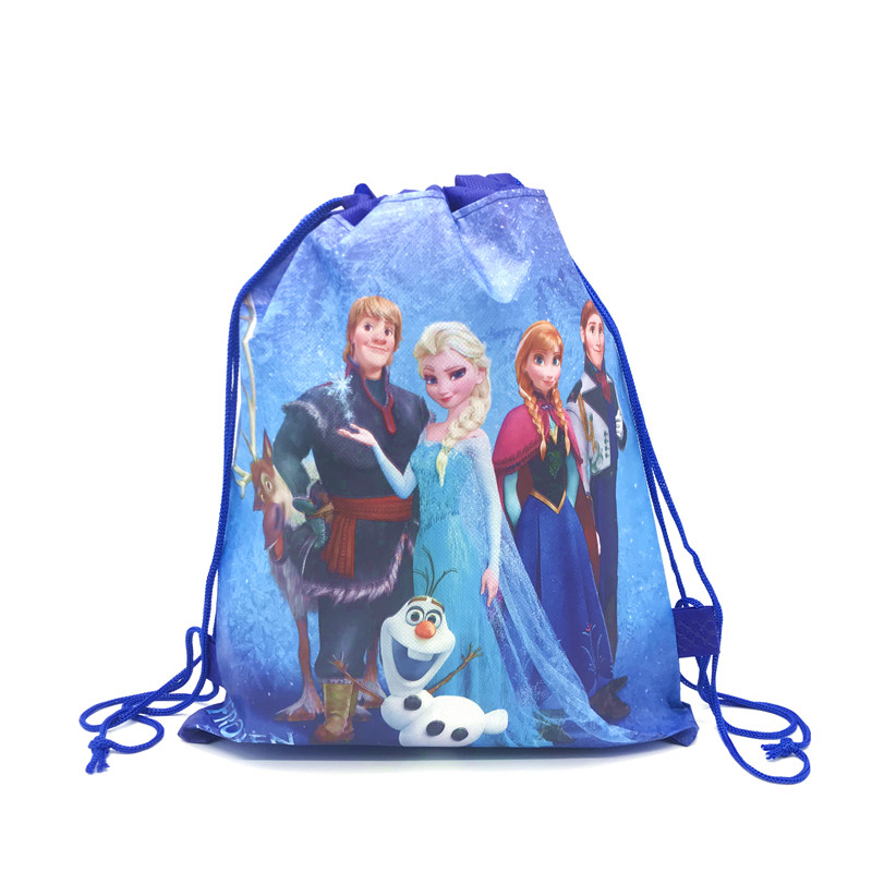 1pcs High Quality Frozen Disney Elsa & Anna Drawstring Bags Kid Travel Pouch Storage Clothes Shoes Bags School Portable Backpack