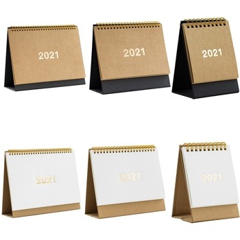2021 Simple Black White Series Desktop Calendar Daily Weekly Yearly Schedule Agenda Organizer Table Planner Office Supplies 2021 table calendar simplicity agenda planner weekly monthly to do list desktop paper calendars office stationery supplies