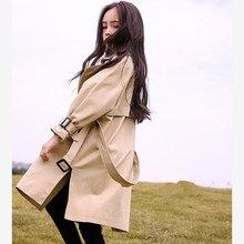 Children's windbreaker Spring Autumn new coat for girl long sleeve lapel trench
