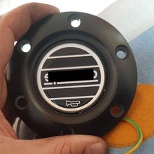 Автомобильный Стайлинг, черный spar * гоночный автомобиль, рожковая кнопка на руль + алюминиевый черный/красный/синий край для Honda