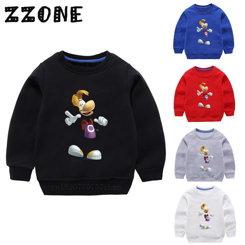 Children's Hoodies Kids Rayman Legends Adventures Cartoon Funny Sweatshirts Baby Pullover Tops Girls Boys Autumn Clothes,KYT5204
