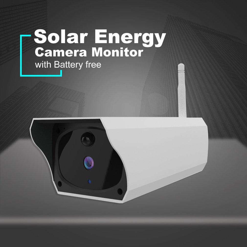 Solar WiFi IP Camera 1080P HD Outdoor Charging Battery Wireless Security Camera PIR Motion Detection Bullet Surveillance
