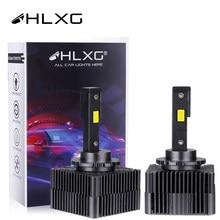 HLXG – lampe LED pour phare de voiture, ampoules canbus D1S D5S D3S D4S D4R D8S D2R 12V 24V, 6000K, 10000lm