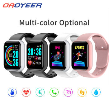 D20 Bluetooth-compatible Watches Men Waterproof Sport Fitness Tracker Smart Bracelet Blood Pressure Heart Rate Monitor Y68 1