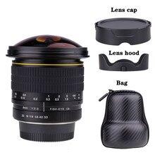 Objectif Fisheye circulaire asphérique 8mm F/3.0 pour appareil photo Canon DSLR 550D 650D 750D 77D 80D 1100D