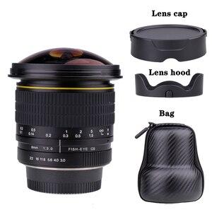 Асферическая круговая камера 8 мм F/3,0 с ультра широким объективом рыбий глаз для камер Canon DSLR 550D 650D 750D 77D 80D 1100D