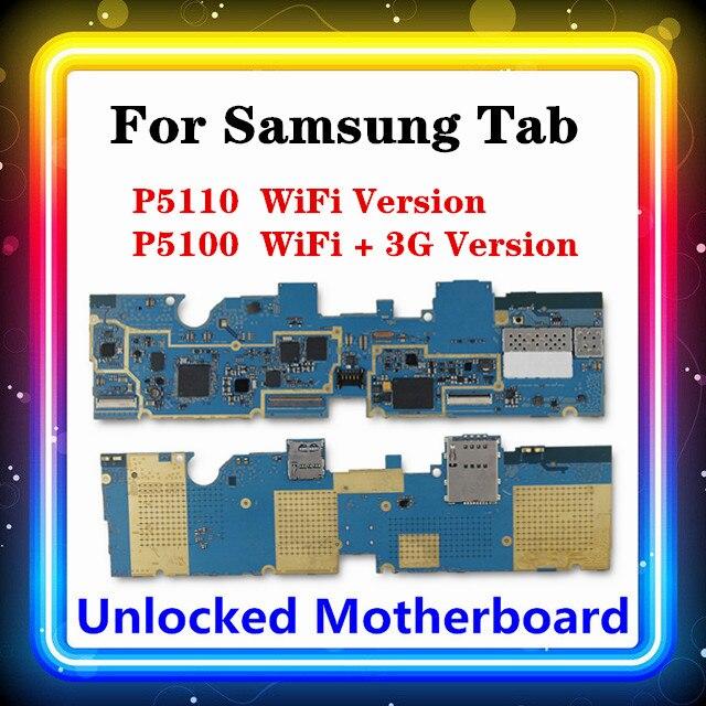Carte mère 16 go pour Samsung Galaxy Tab 2 P5110, Version WIFI, prise en charge SIM 3G, système d'exploitation Android, puces complètes