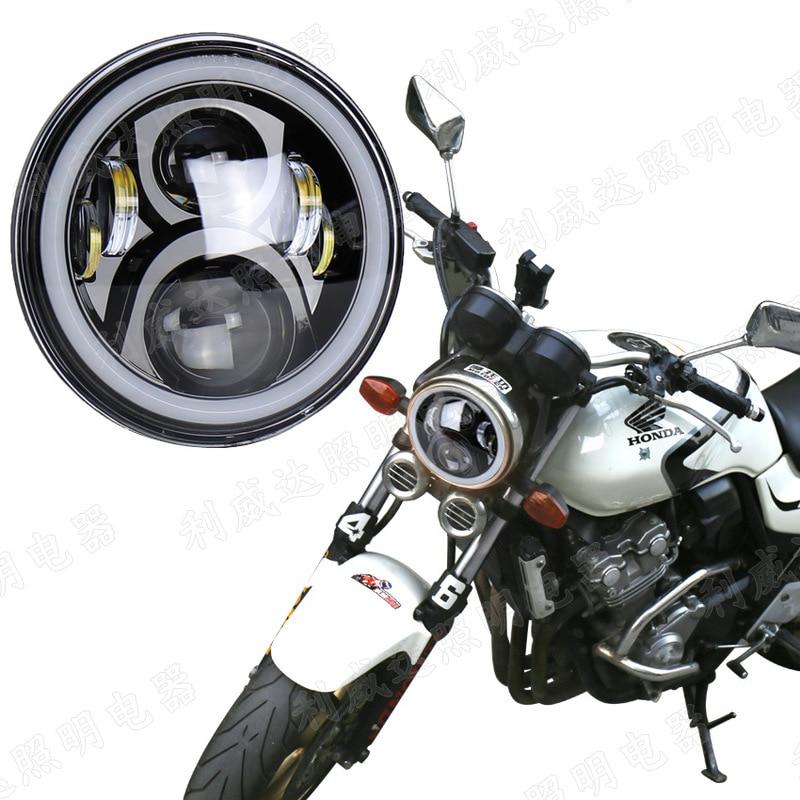 ODIFF 50W White High Beam Low Beam Daytime Running Light Yellow Turning Light 7-inch Harley Davidson Headlamp