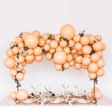 60 шт пастельные оранжевые и серые латексные шары