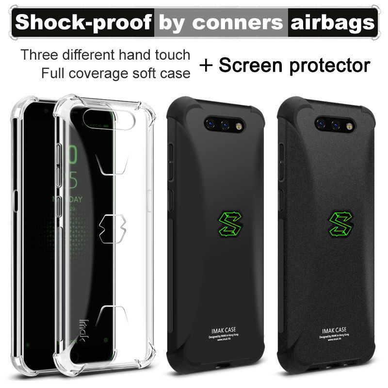for Xiaomi Black Shark Case for Xiaomi Black Shark 2 Pro Helo Case Silicone IMAK Shockproof Conners Airbags Soft TPU Back Cover
