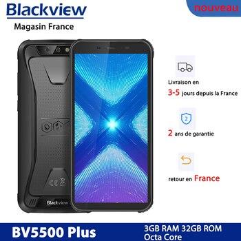 Перейти на Алиэкспресс и купить Смартфон Blackview BV5500 Plus, Android 10,0, телефон с 32 Гб ПЗУ, IP68, экран 5,5 дюйма, 4G телефон, портативный