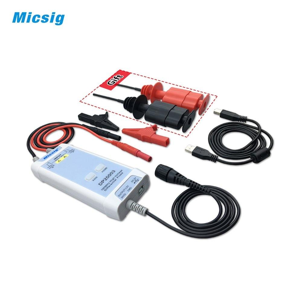 Micsig DP20003 Oscilloscope 100MHz 5600V Kit de sonde différentielle haute tension 3,5ns temps de montée 200X/2000X taux datténuation