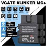 Vgate-herramienta de diagnóstico de coche VLinker MC + ELM327 BT 4,0/WIFI OBD2, escáner para Android/IOS, lector de código PK OBDLINK ELM327 V 1 5