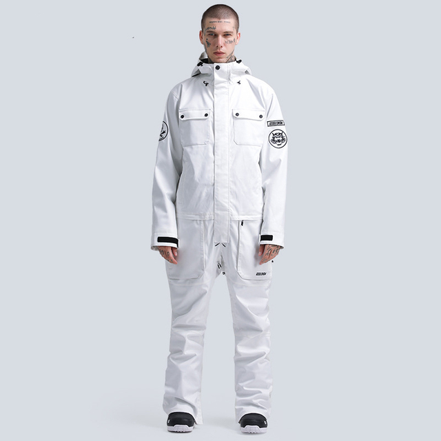 -30 Jumpsuit Men's and Women's Snow Suit Wear Outdoor Sports Ski Costumes 15K Waterproof Snowboard Clothing Jacket Winter Coats 8