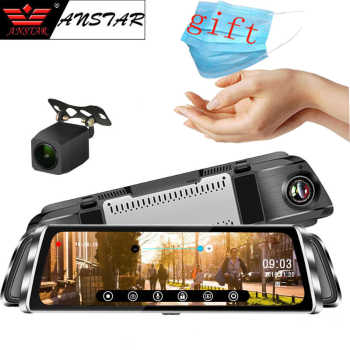 "Anstar 10"" Dash Cam 4G Rear View Mirror Camera Android Car DVR HD 1080P Video Recorder WiFi GPS ADAS Dual Lens Auto Registrar"