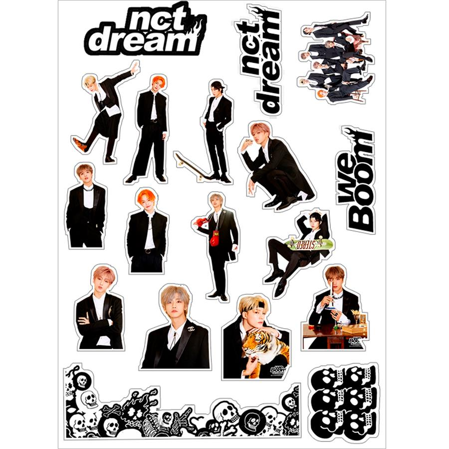 Kpop NCT Dream We Boom Laptop Notebook Decorative DIY Stickers Chenle Jaemin Adhesive Photo Stickers For Luggage Mobile Phone