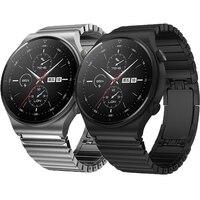 22Mm Metalen Band Voor Huawei Horloge Gt 2 Pro 2e Horloge 3 46Mm Honor Magic 2 Porsche Ontwerp vlinder Sluiting Rvs Armband