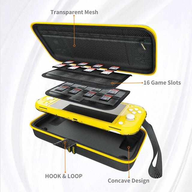 Переносная сумка для хранения OIVO Switch Lite, защитный чехол, ударопрочная жесткая защитная сумка, аксессуары для Nintendo Switch Lite
