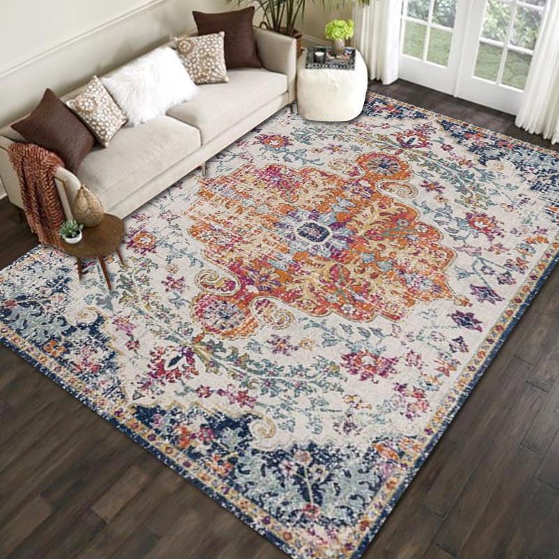Carpet Bohemian-Style Rugs Floor-Mats Bedroom-Decoration Living-Room Washable Anti-Slip
