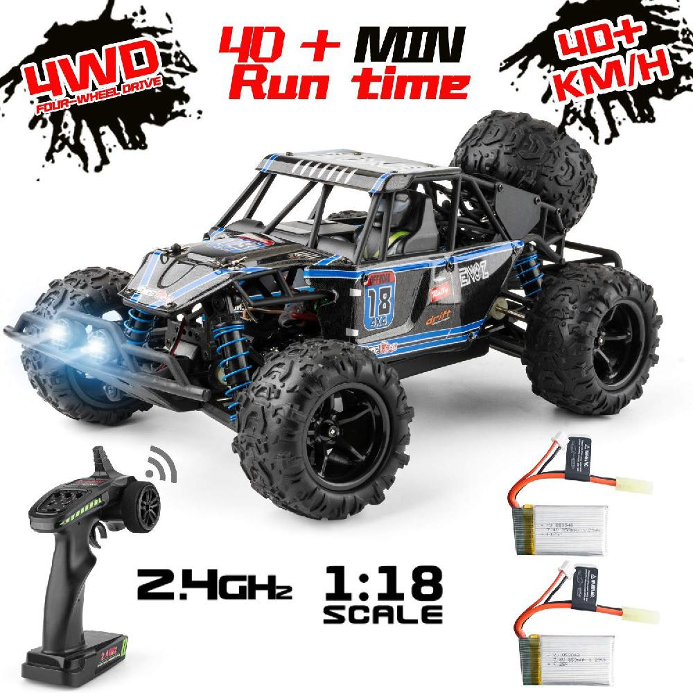 9303E 1:18 RC Car Scale Remote Control Car 40+km/h High Speed Off Road Vehicle Toys RC Truck For Kids And Adults