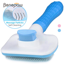 Benepaw Self Cleaning Dog Brush Slicker Massage Particle Pet Comb For Dogs Cat Shedding