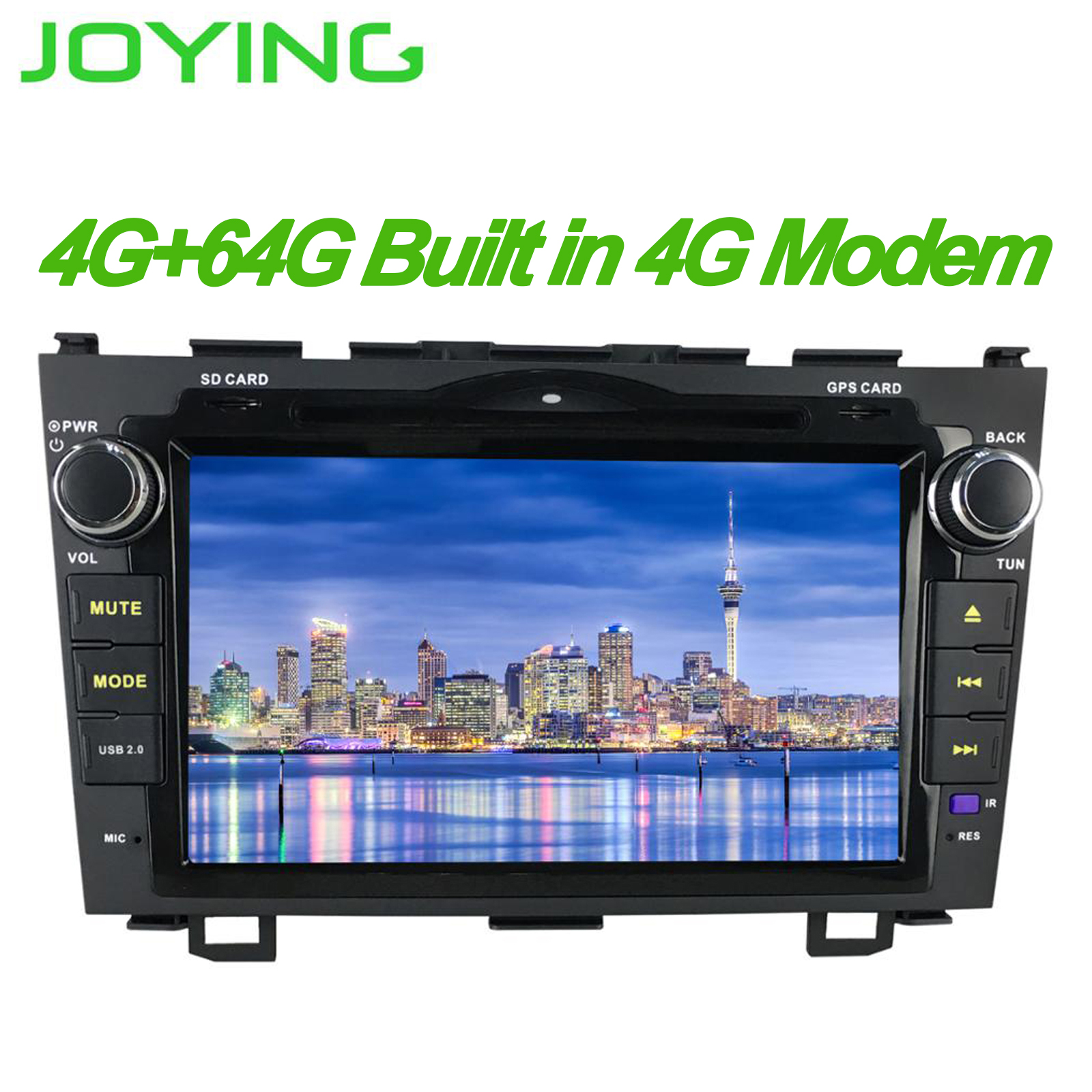 JOYING latest 2din car radio HD 8 inch touchscreen LCD Android 8.1 4gb Ram Octa Core Bluetooth DSP GPS for Honda CRV 2007-2012 image