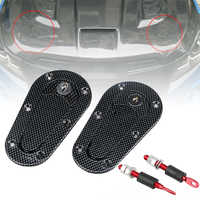 Racing Car Engines & Components Carbon Fiber Hood Pin Plus Flush Mount latch Kit Lock With Keys