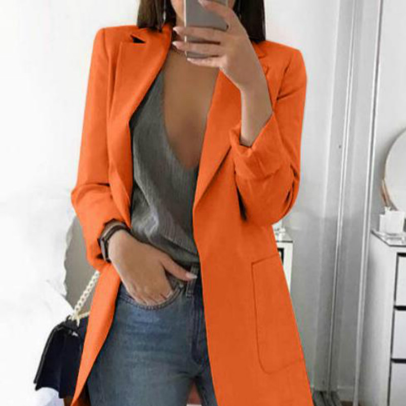 Women's Suit Jacket 2019 Autumn New Casual Lapel Slim Cardigan Women's Temperament Wild Suit