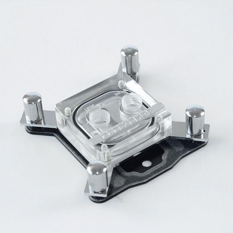 G1/4 Thread Waterblock Acrylic Copper Water Cooling CPU Radiator Heatsink Block DXAC
