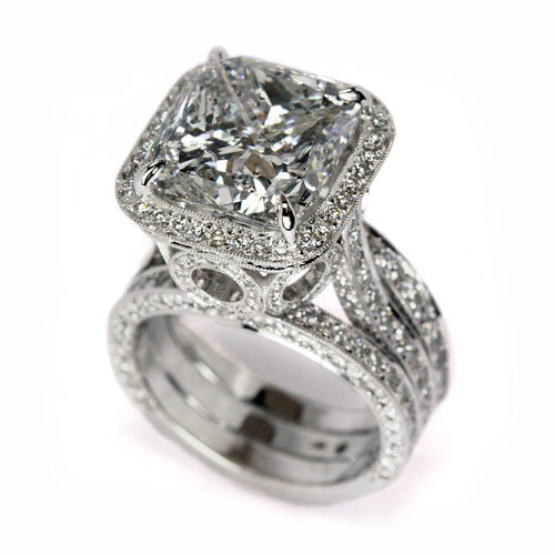 2021 New Luxury Cushion 925 Sterling Silver Engagement Ring Africa For Women Lady Anniversary Gift Jewelry