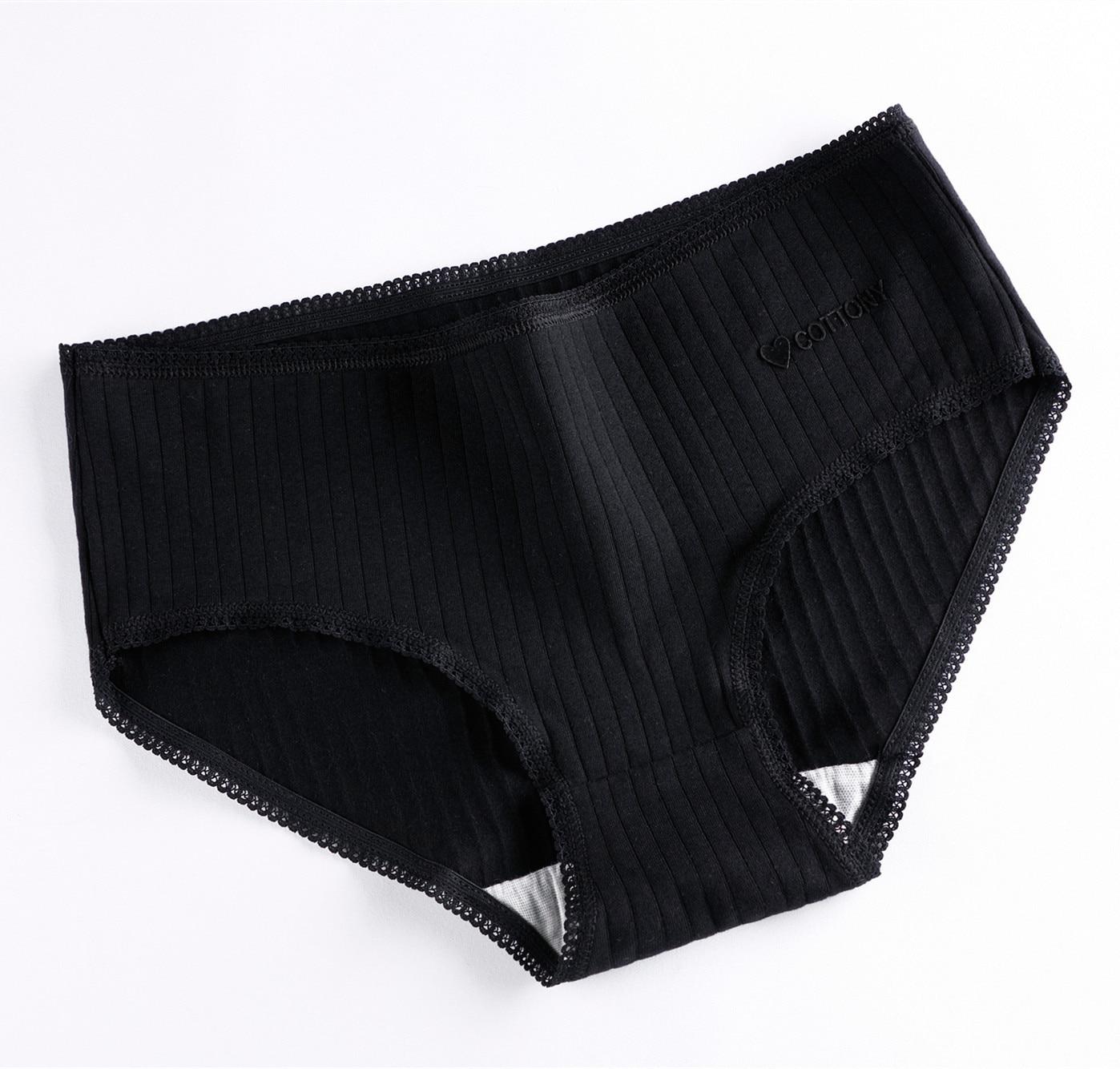 M-XL Women's Panties 3Pcs Cotton Solid Color Girl Briefs Sexy Lingerie Female Underwear Ladies Underpants Women Intimate New