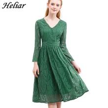 Heliar vestido 2020 verão feminino oco para fora de uma peça folha verde padrão atado até vestido casual joelho elástico cintura vestido feminino