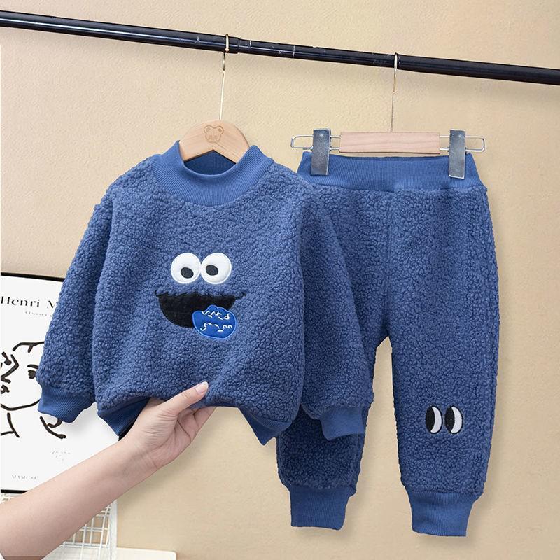 2021 zestaw ubrań dla dzieci wiosna jesień dzieci chłopcy list garnitur sweter + spodnie dziecko moda dziewczyny szwy ubrania