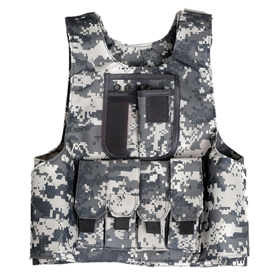 2019 New Arrive Summer Children Level 3 Tactical Vest Outdoor Hunting CS Protective Vest For 12-15 Years Old- Camouflage S