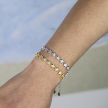 2019 New fashion Christmas gifts gorgeous women luxury jewelry with sparking bling cz star starburst charm hand chain bracelets