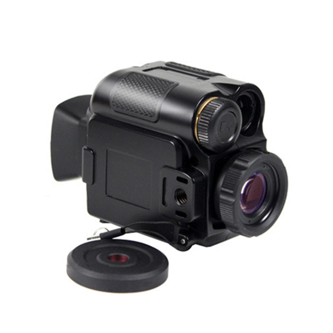 1-8 Times Electronic Zoom Focusing Night Vision Compact and Portable Night Vision Telescope - Black