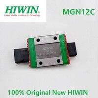 100% oryginalny HIWIN brand new MGN12C liniowy blok przewóz do liniowej szyny prowadzącej MGNR12 MGN12 CNC części drukarki 3D DIY 12mm w Łożyska od Sport i rozrywka na