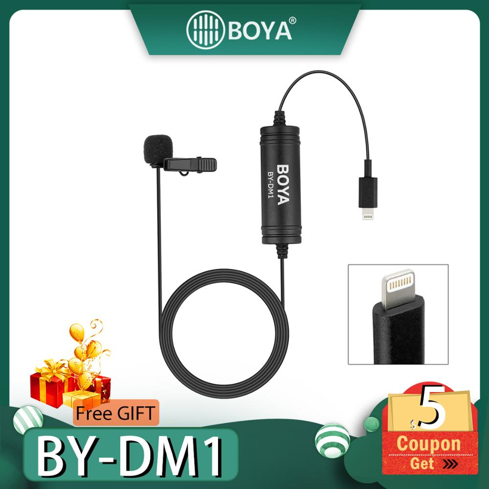 BOYA BY-DM1 Clip-On Lapel Lavalier Condenser Microphone for IOS iPhone X 8 Plus
