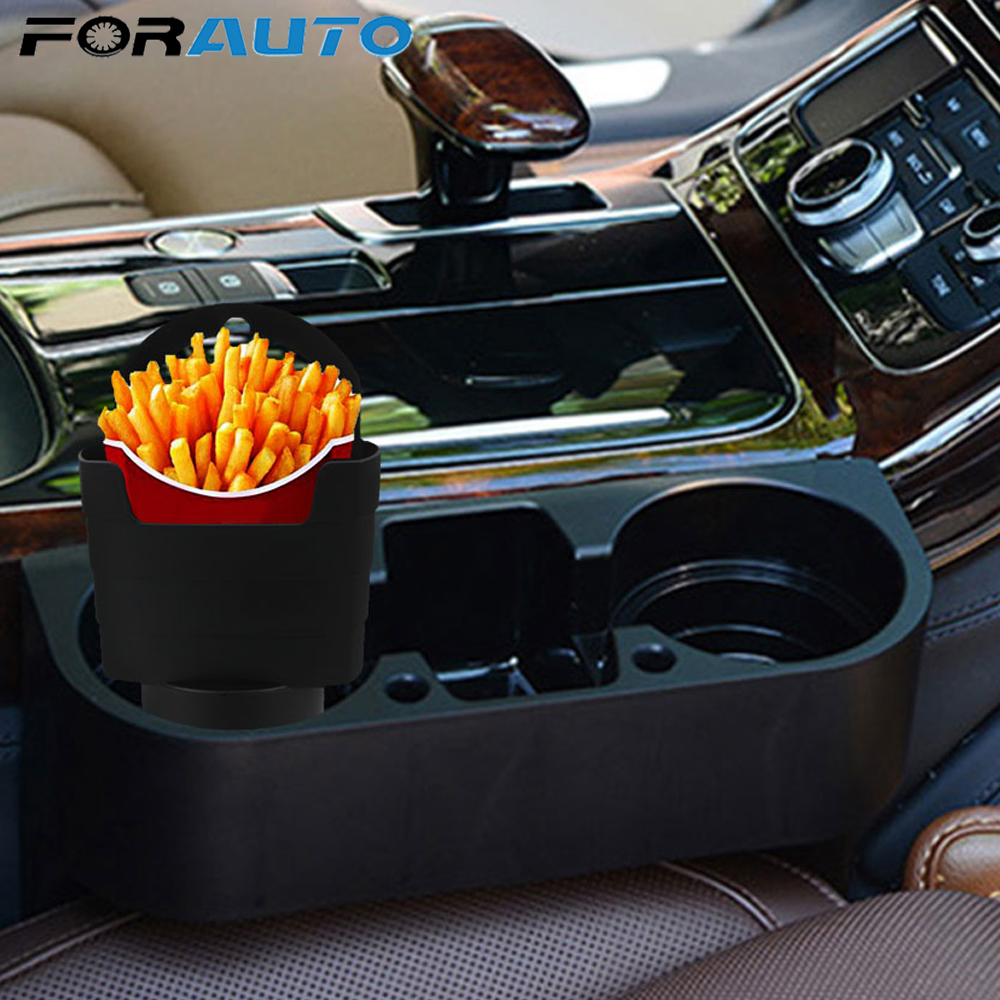 FORAUTO Car French Fries Holder Food Drink Cup Holder Travel Eat in the car Fries Snacks Box Car-Styling Storage Box Bucket