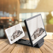 Mobile Phone Screen Magnifier Video Amplifier Smartphone Stand Enlarge HD 3d Video Mobile Phone Magnifying Glass Holder