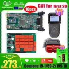 10Pcs Cdp Tcs Cdp Pro Dubbele Groene V3.0 Nec Board Bluetooth 2015.R3 Software Obd Ii Scanner Cars Trucks OBD2 Diagnostic Tool