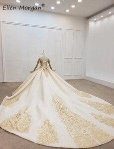 Image 4 - Elegant Off ไหล่ Gowns ชุดแต่งงานลูกไม้ 2020 Real รูปภาพ Beaded Fringe Elegant ชุดเจ้าสาวสำหรับผู้หญิง