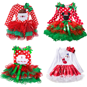 Christmas Dress Baby Girl Clothes 0-24 Months New Year Princess Costume Infant Girls Xmas Gift Baby Christmas Party Dress