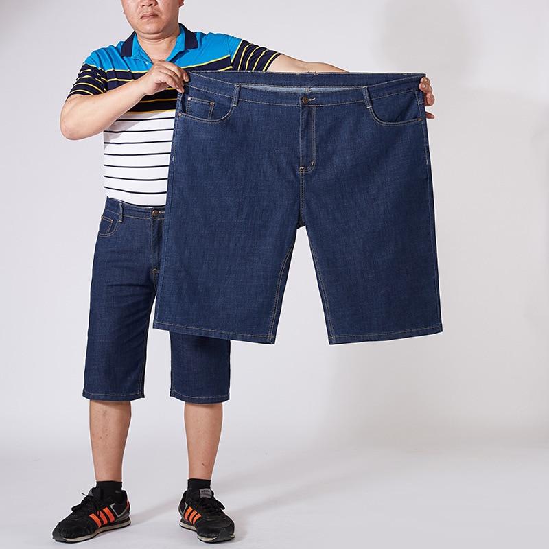 1388 New Style Business Large Size MEN'S Jeans Capri Pants Loose Fat Denim Shorts Men's 30-56