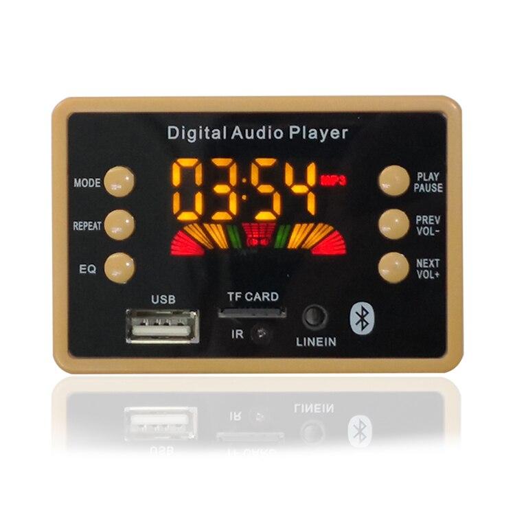 Новый цветной экран беспроводной Bluetooth MP3 WMA декодер плата аудио модуль Поддержка USB TF AUX FM EQ Функция для автомобильного аксессуара