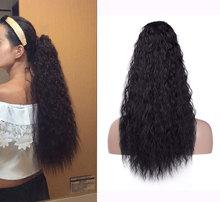 """Lydia syntetyczny 20 """" 24"""" perwersyjne kręcone włosy z dwoma plastikowymi grzebieniami przedłużanie kucyka wszystkie kolory dostępne"""